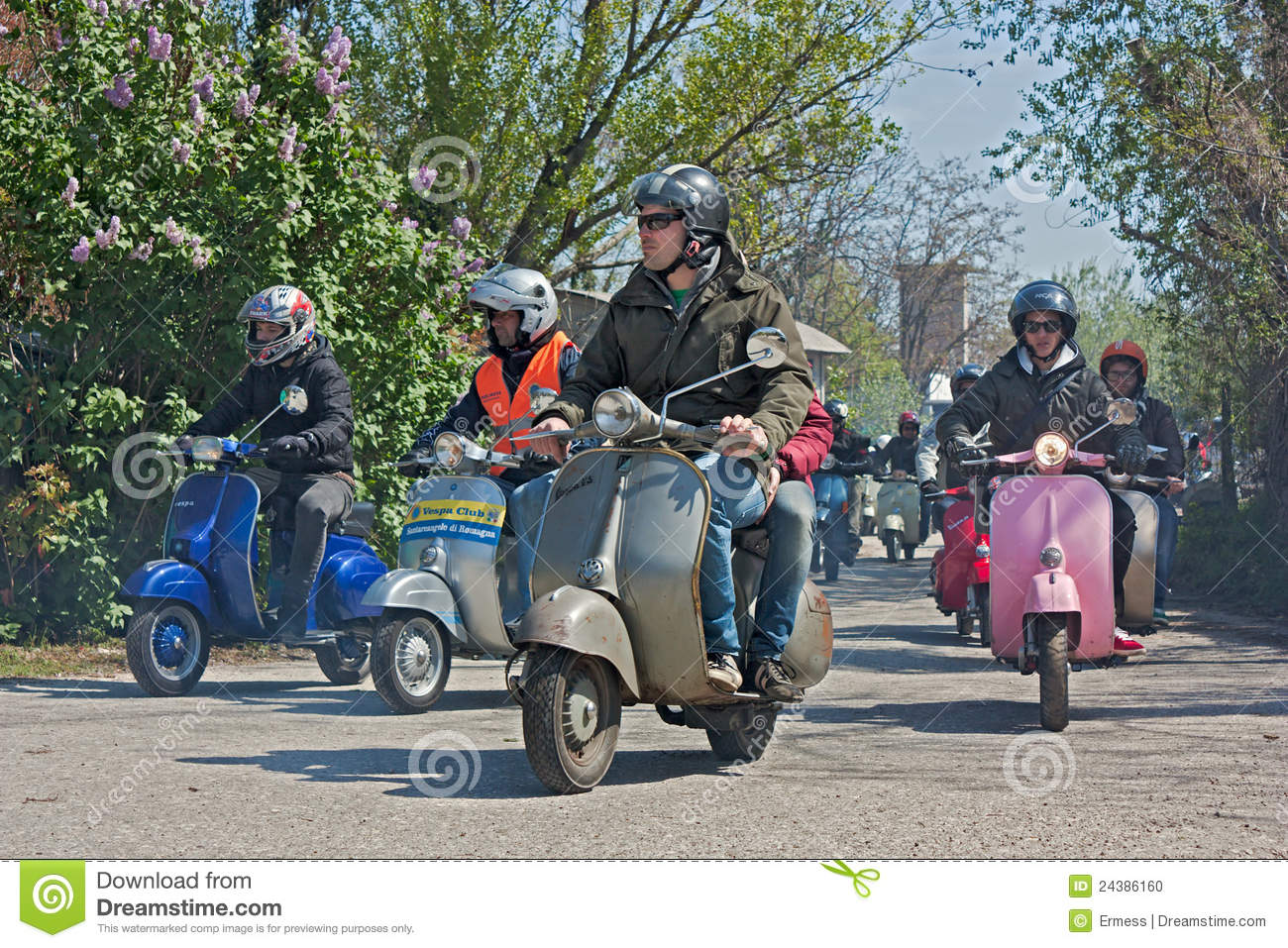 Scooters rally editorial image  Image of driving, moped - 24386160