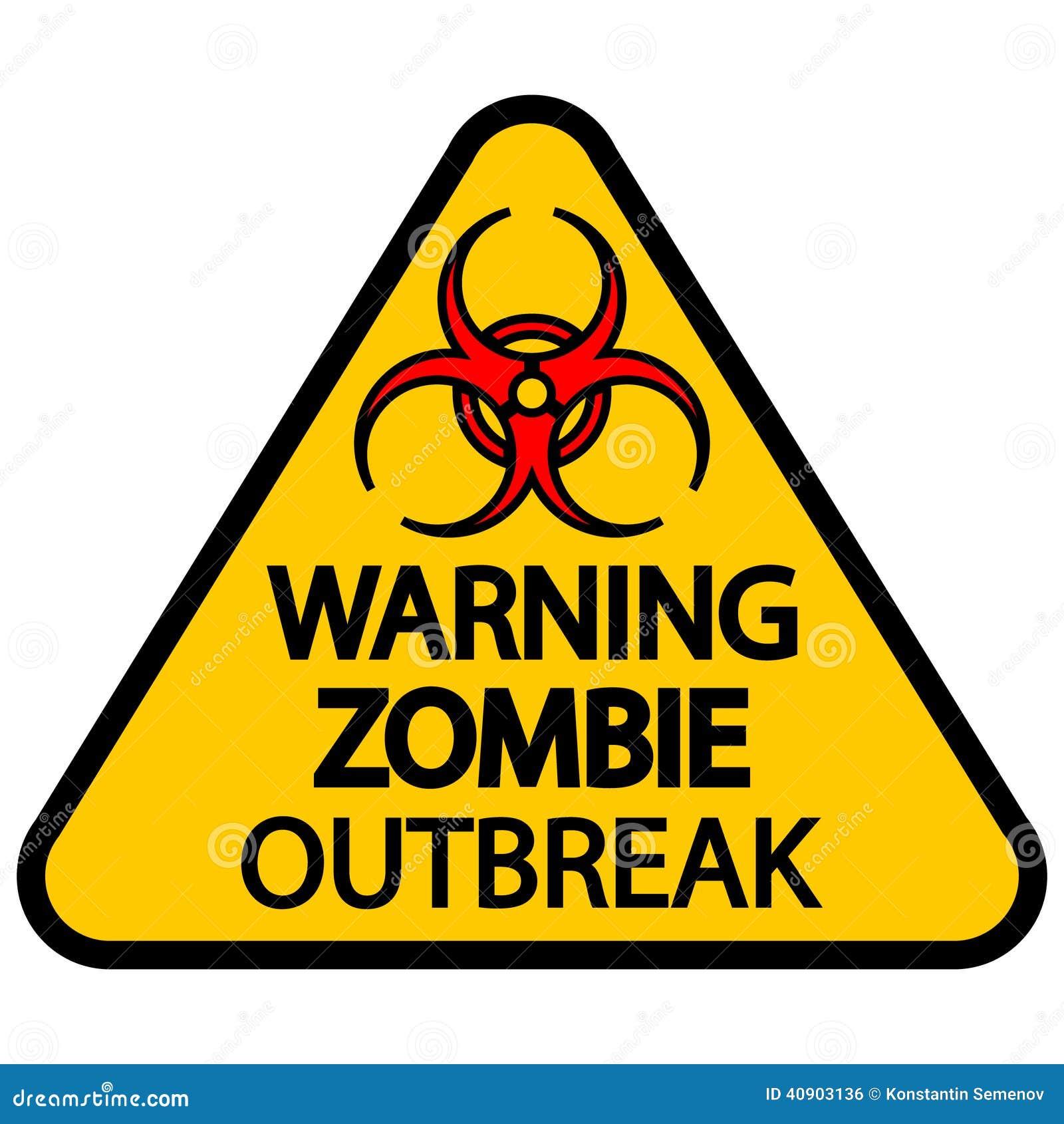 Scoppio d avvertimento dello zombie