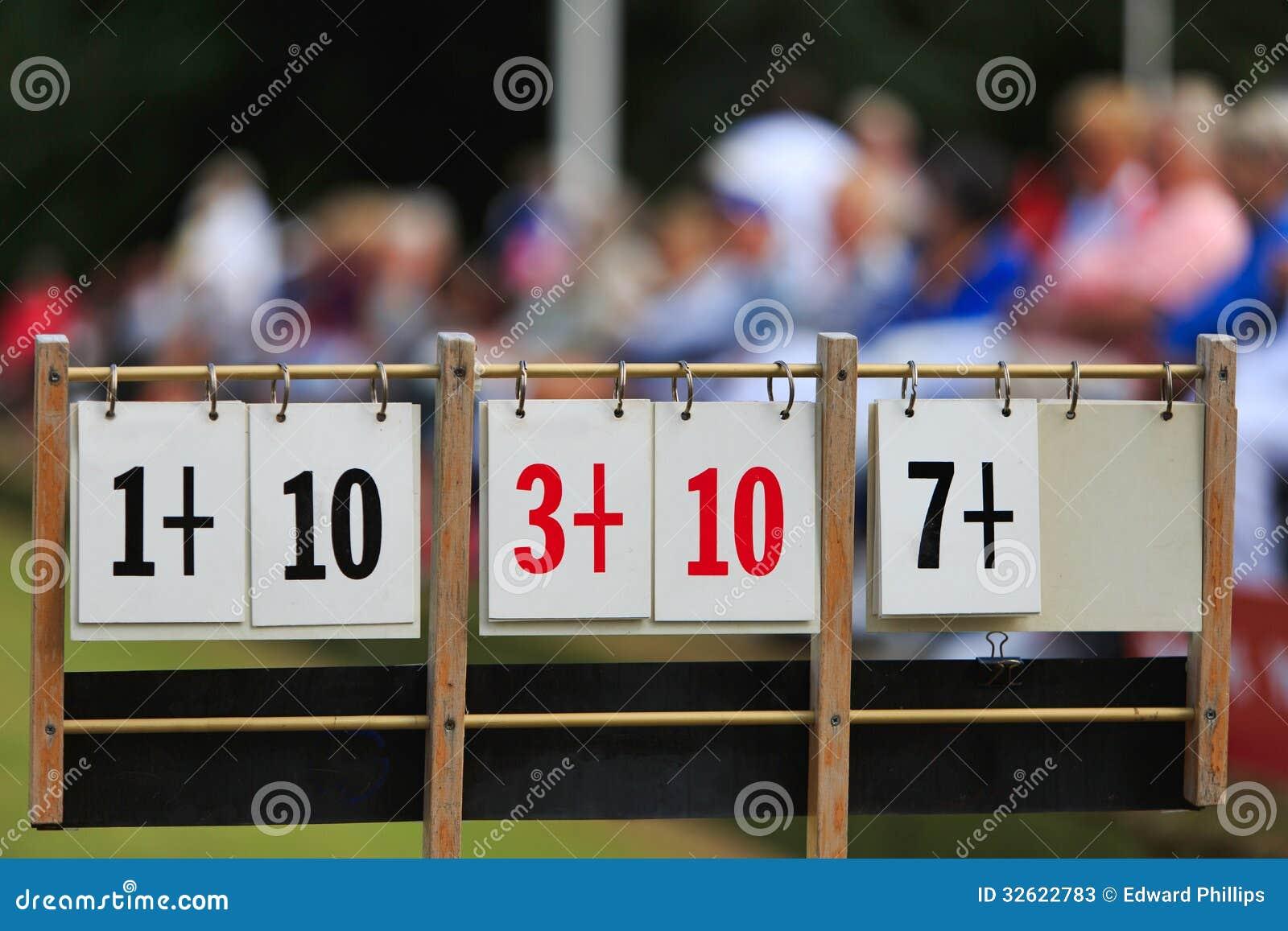 Scoreboard At Lawn Bowls Stock Photos - Image: 32622783