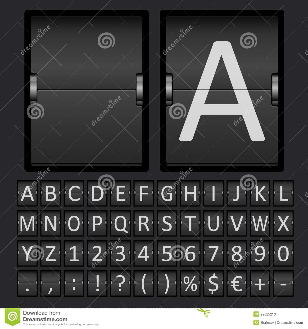 letters to numbers scoreboard letters and numbers alphabet stock vector 1470