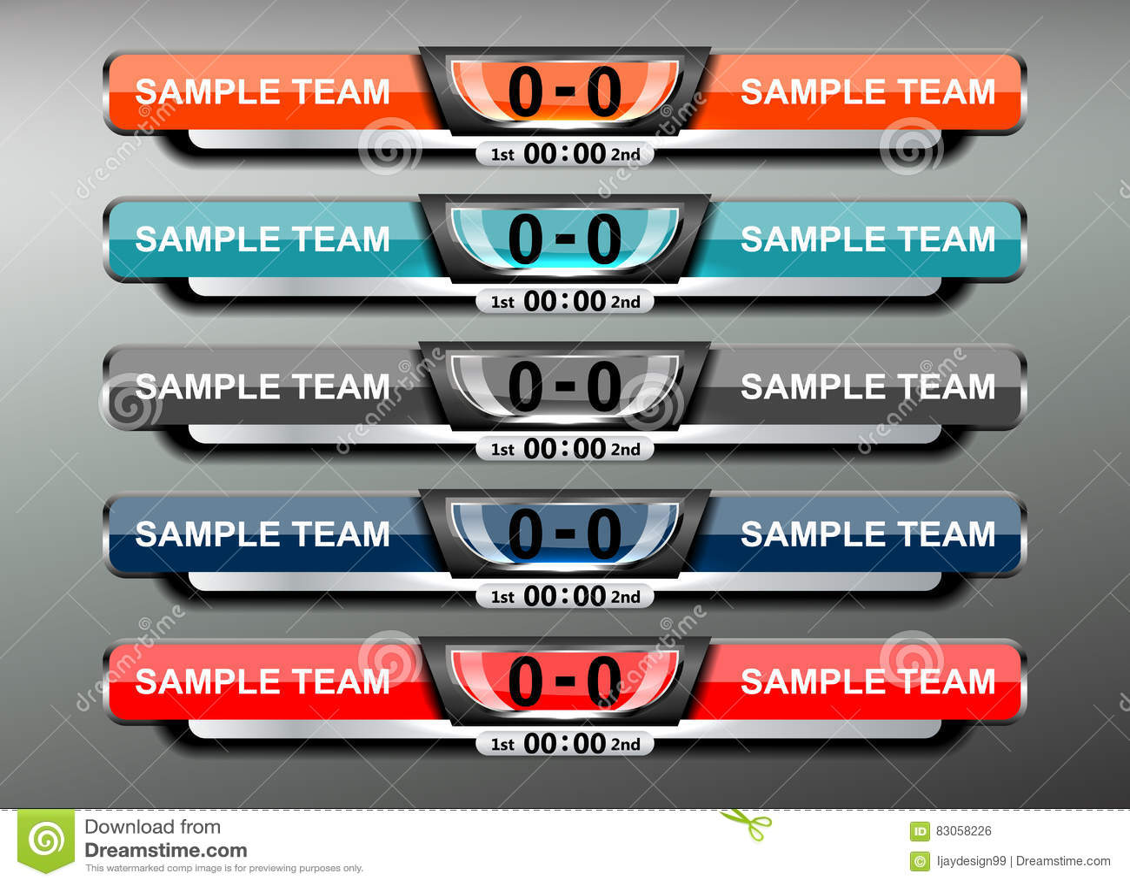 Scoreboard Soccer Design Vector Image 83058226 – Scoreboard Sample