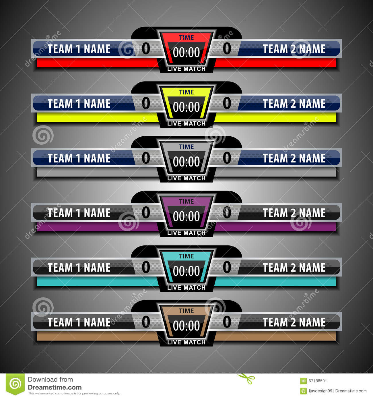 Scoreboard Template Football Vector Image 67788591 – Scoreboard Sample