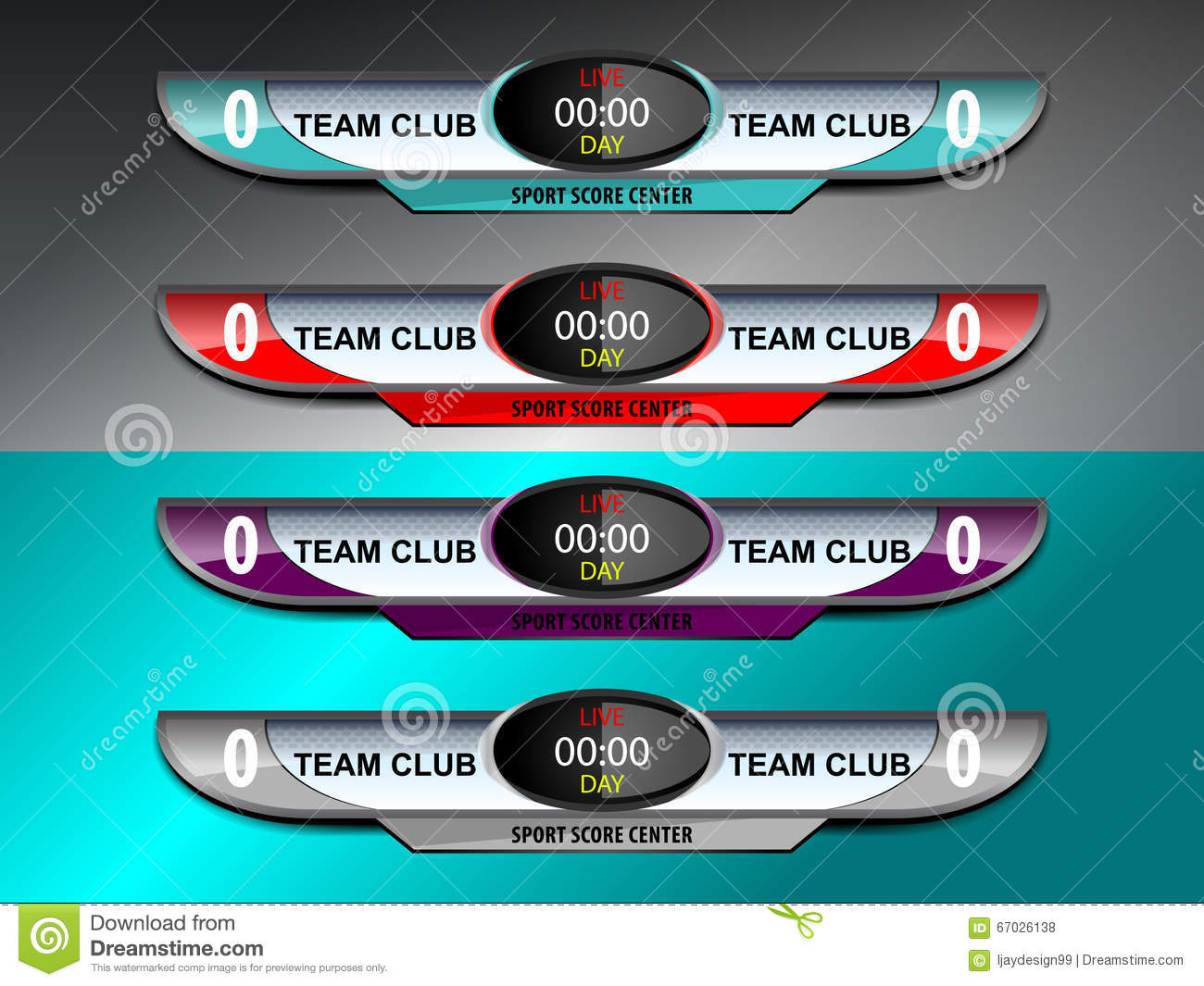 Scoreboard Template Stock Vector - Image: 67026138