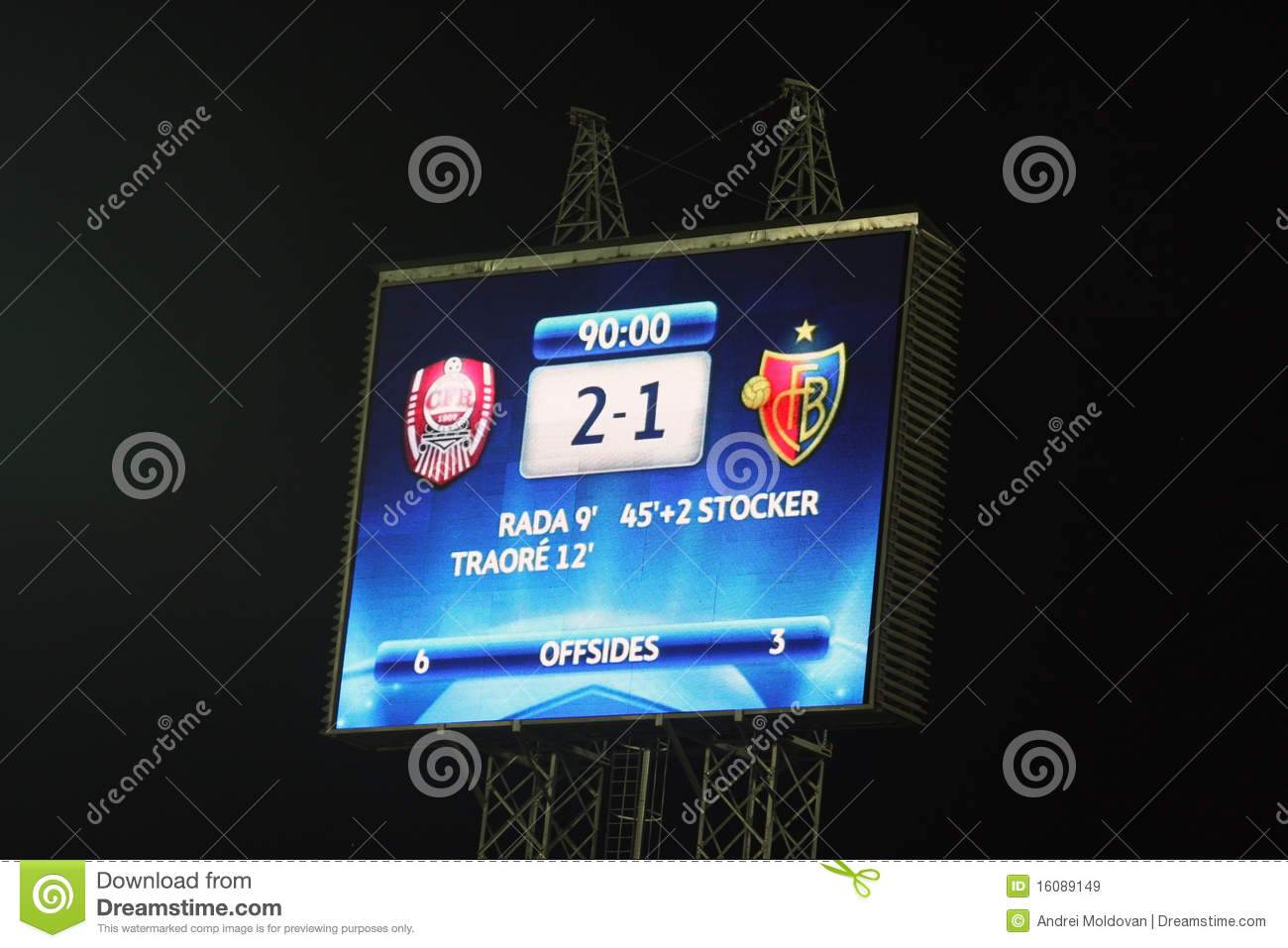 The Scoring Table In Champions League Editorial Stock Image - Image