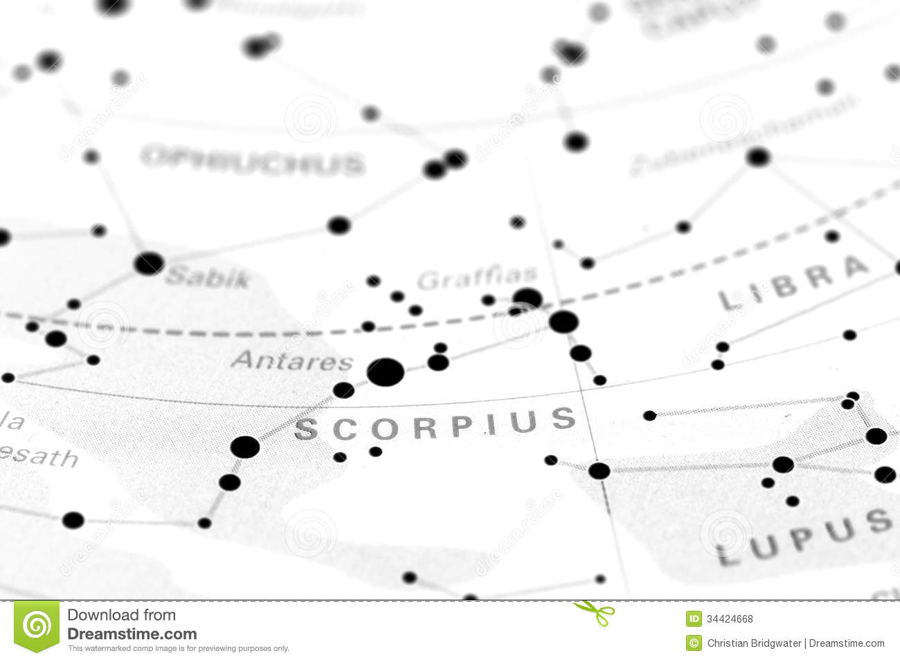 Scorpio on star map