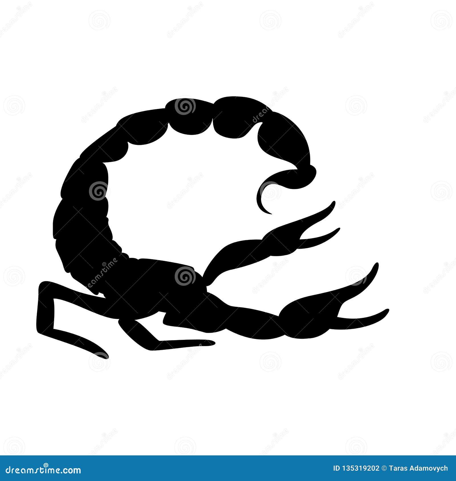 Scorpio Vector Illustration Black Silhouette Profile Stock Vector Illustration Of Silhouette Clipart 135319202