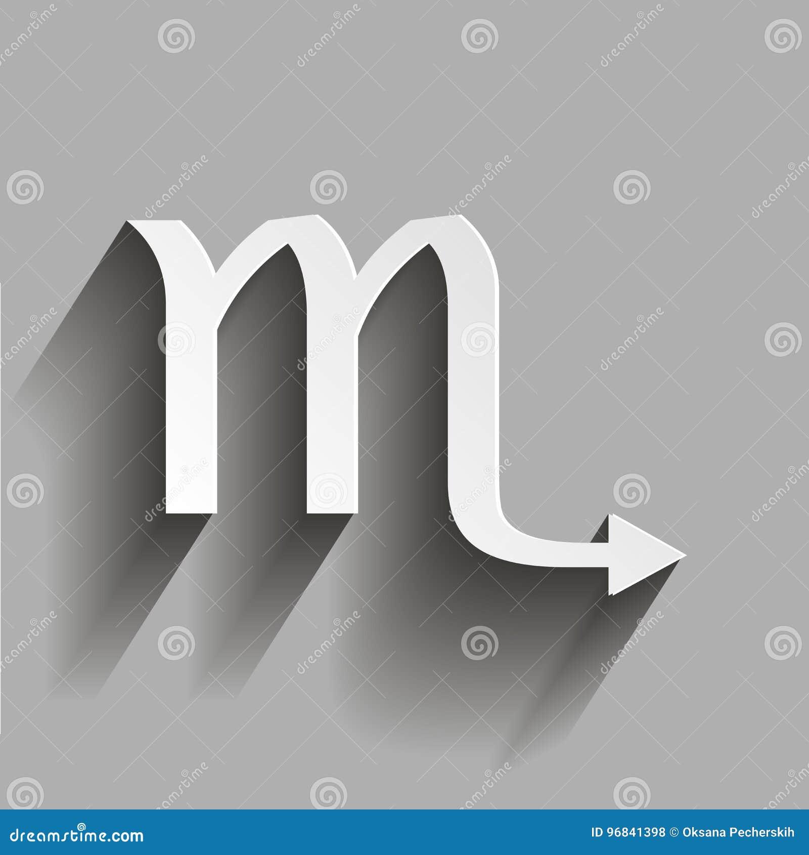 Scorpio Zodiac Sign Astrological Symbol Icon Stock Vector