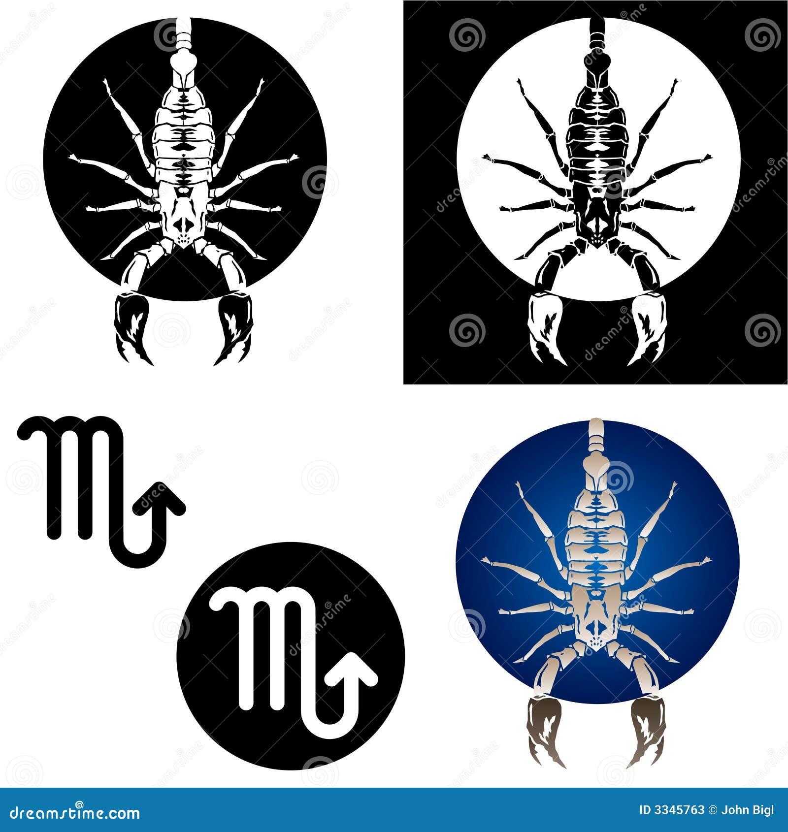Scorpio zodiac signs stock vector illustration of collection 3345763 scorpio zodiac signs buycottarizona Image collections