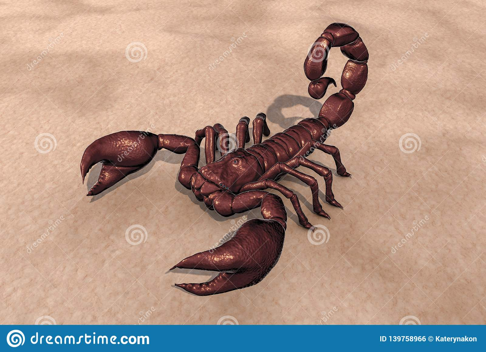 Scorpion, realistic illustration royalty free stock image