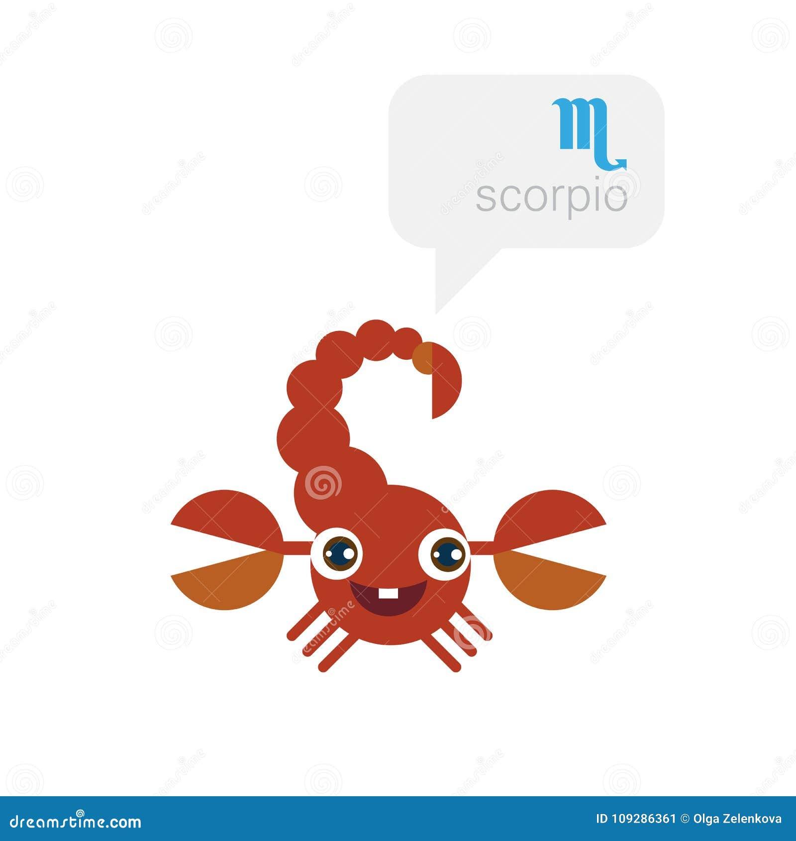 Dessin D Un Scorpion scorpion - signe de zodiaque, personnage de dessin animé mignon