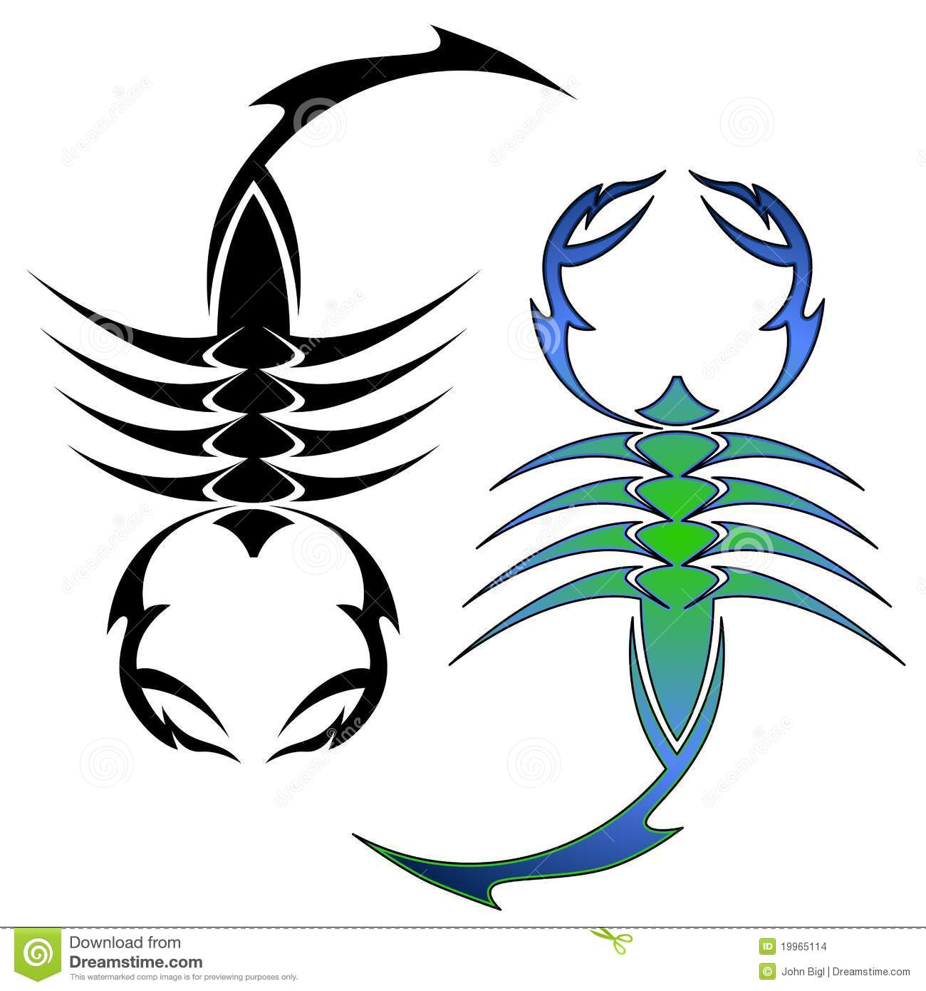 Scorpion Symbols Stock Vector Illustration Of Toxic 19965114