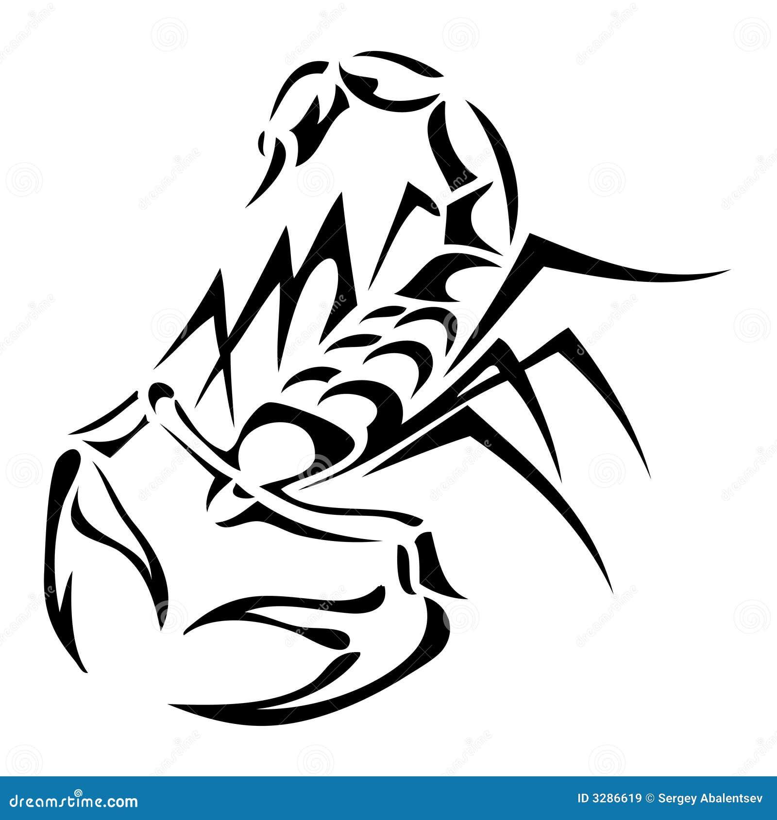 scorpion tatoo stock vector illustration of culture tattoo 3286619. Black Bedroom Furniture Sets. Home Design Ideas