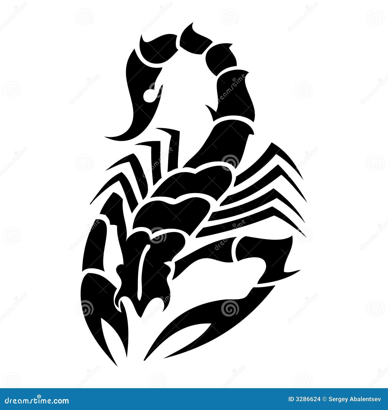 Scorpion Tatoo Stock Vector Image Of Individuality Pattern 3286624