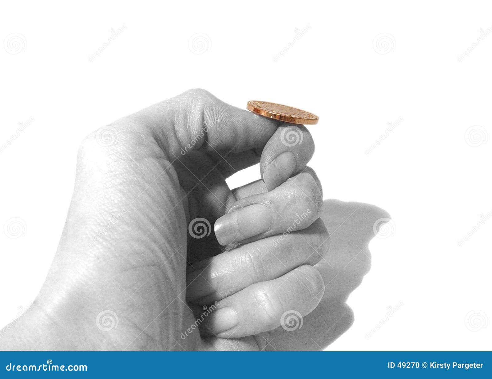 Scossa di una moneta