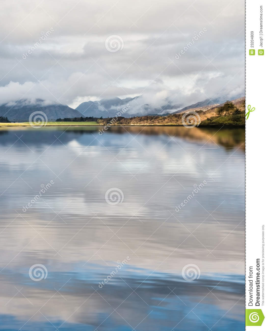 Scotch Mistiness stock image. Image of water, blue, peace