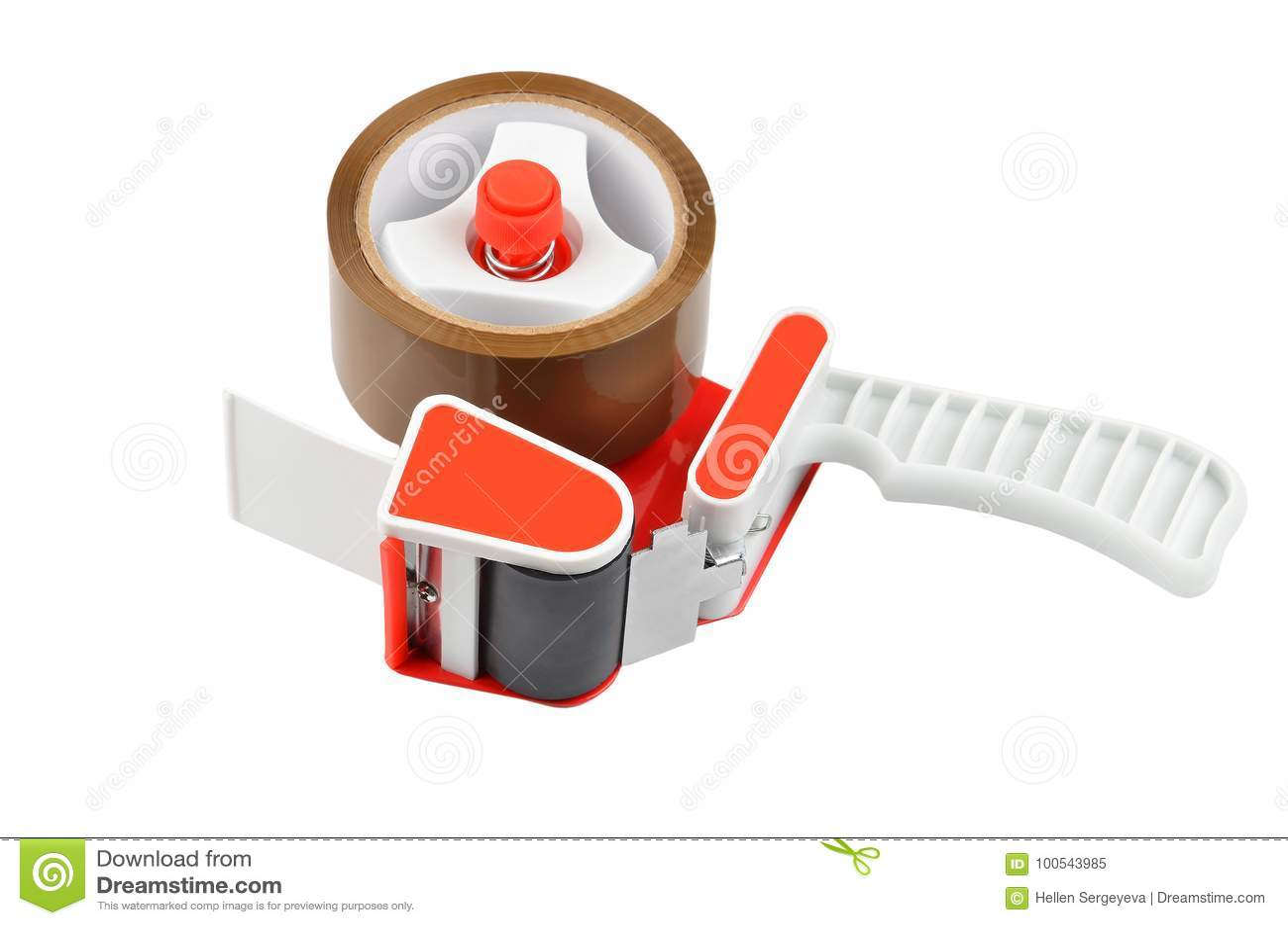 Scotch Tape Dispenser Stock Image Image Of Manual