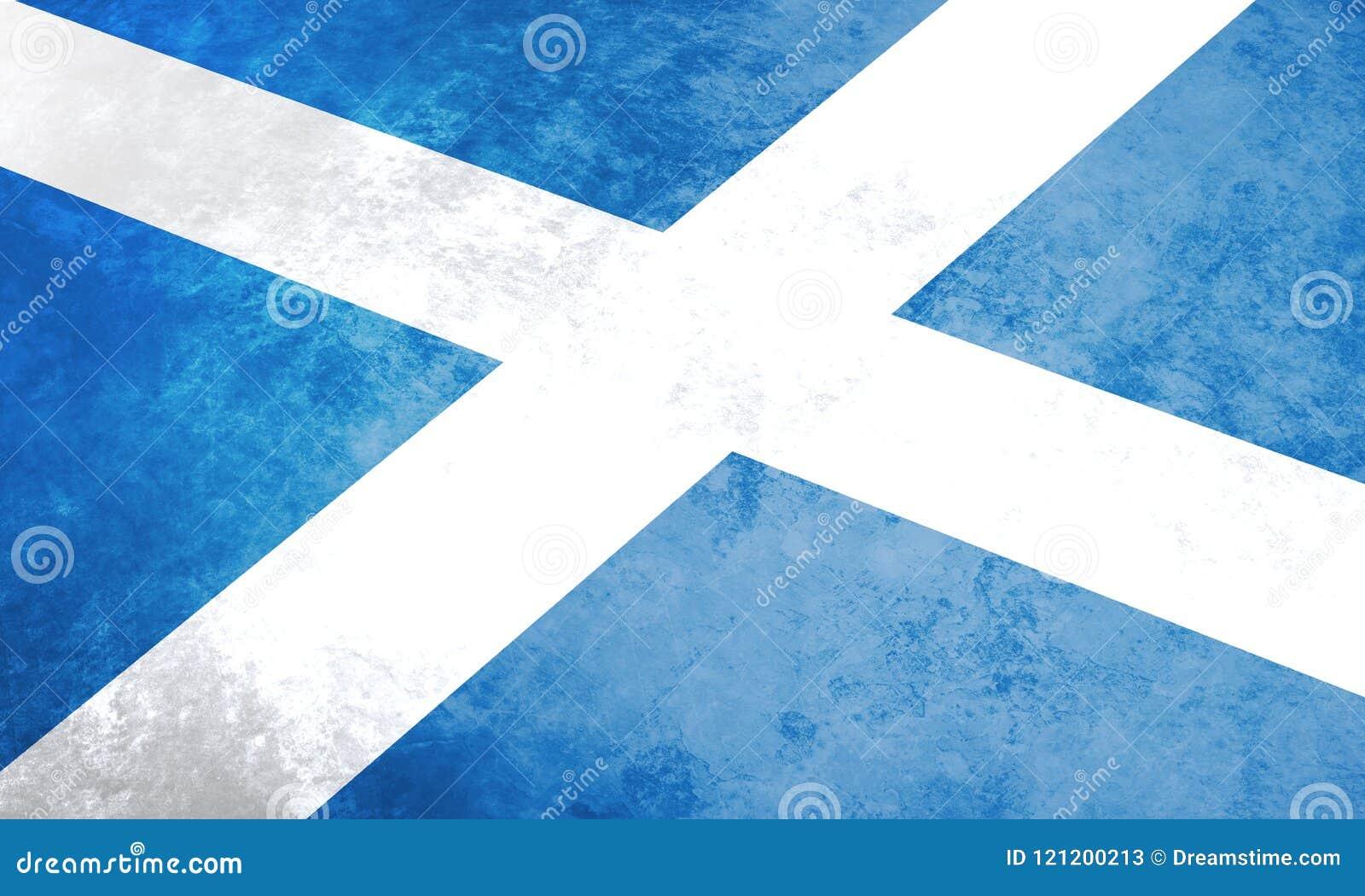 Scotland flag. Scottish grunge flag