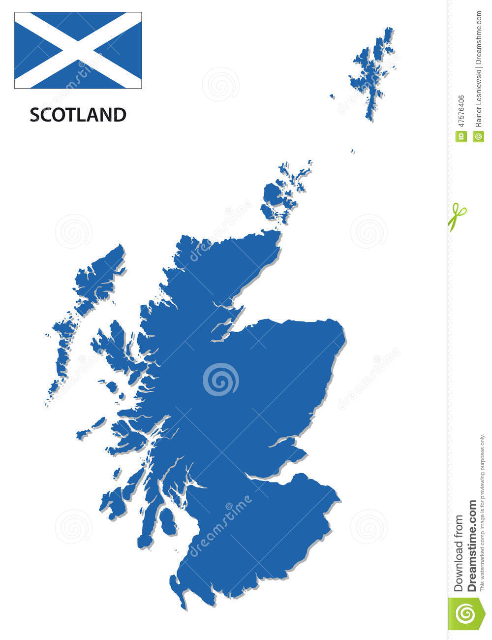 Par United Kingdom  City pictures : Scotland Map With Flag Stock Vector Image: 47576406