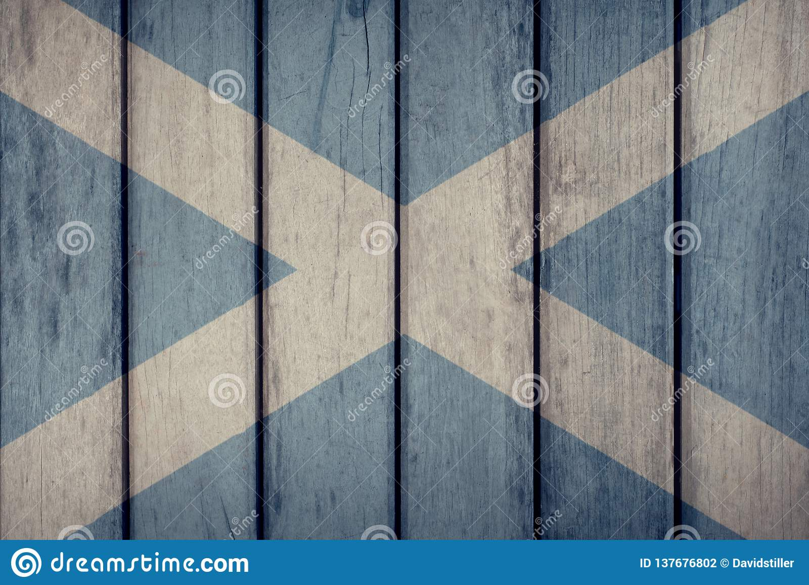 Scotland Flag Wooden Fence