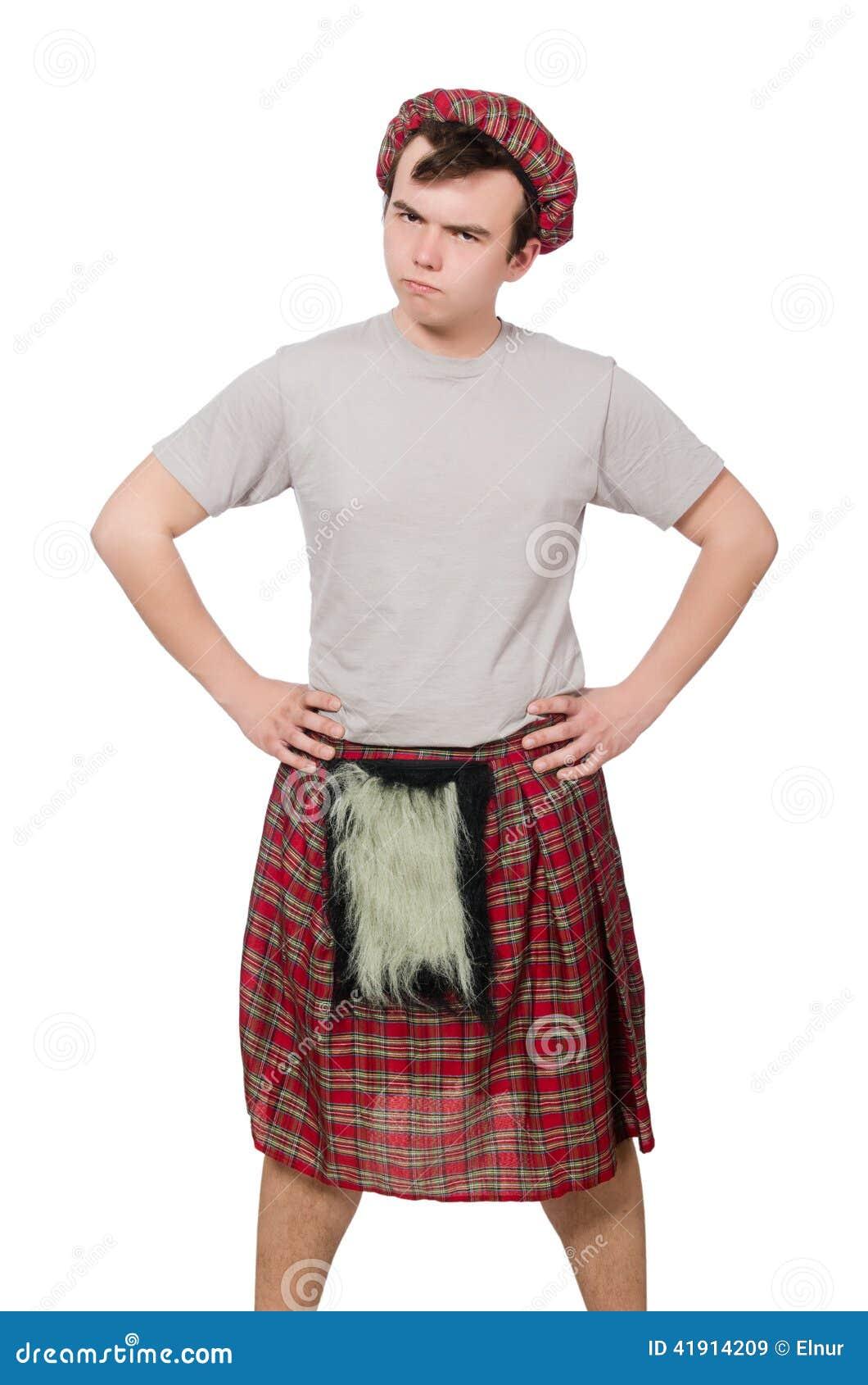 Scotsman divertido aislado