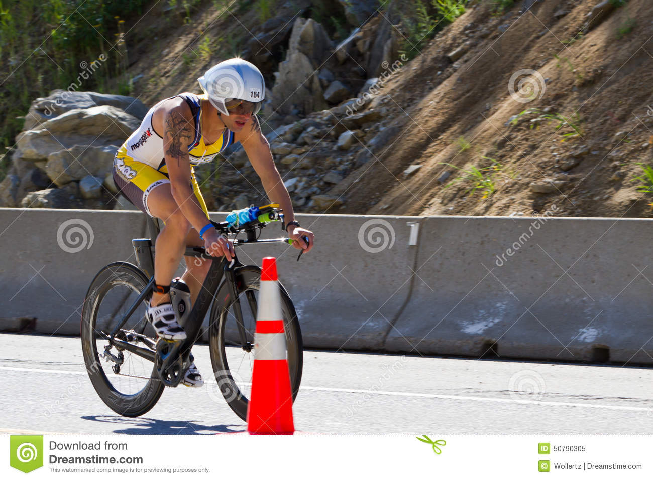 Scott Bowe in the Coeur d  Alene Ironman cycling event