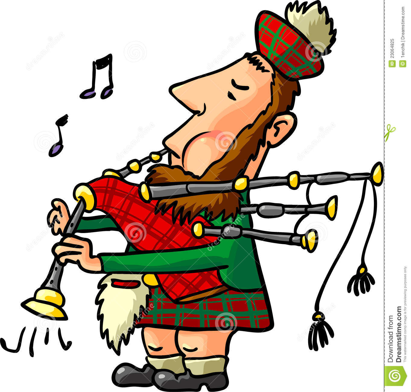 Scottish Bagpiper Royalty Free Stock Photo - Image: 23064825