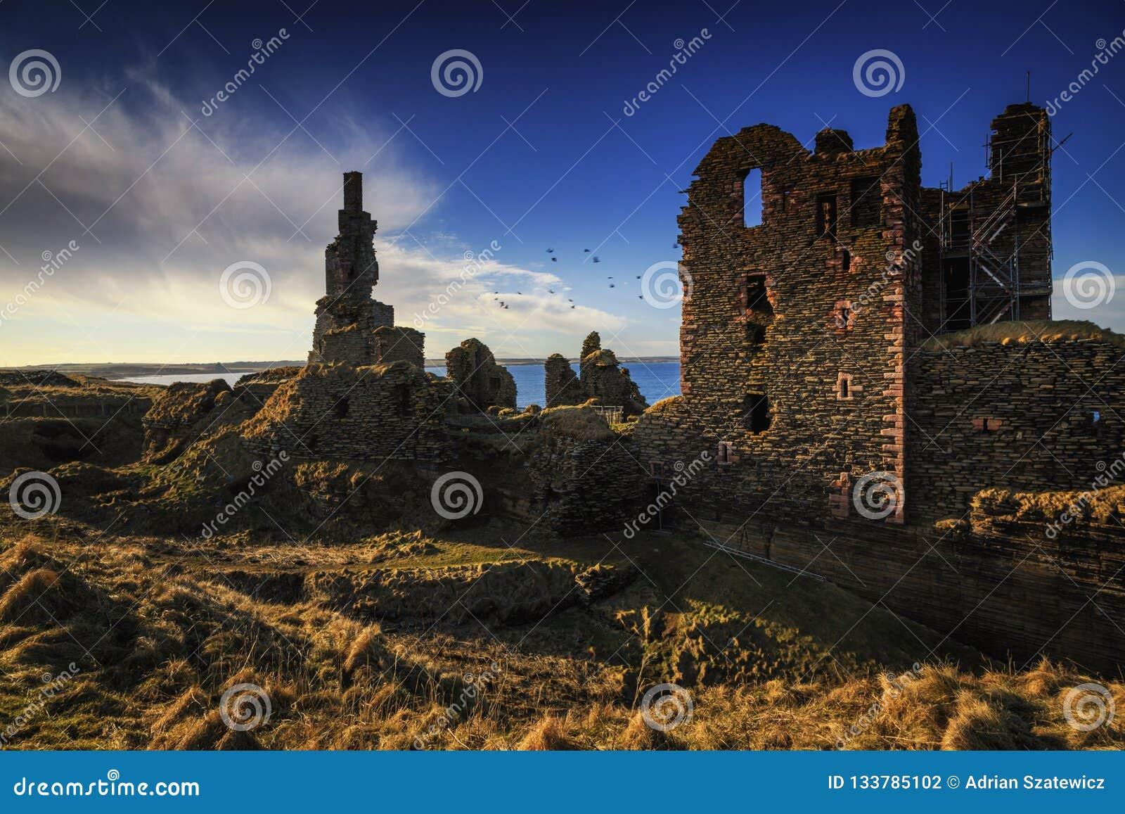 Castle Sinclair Girnigoe, eastern coast of Highlands