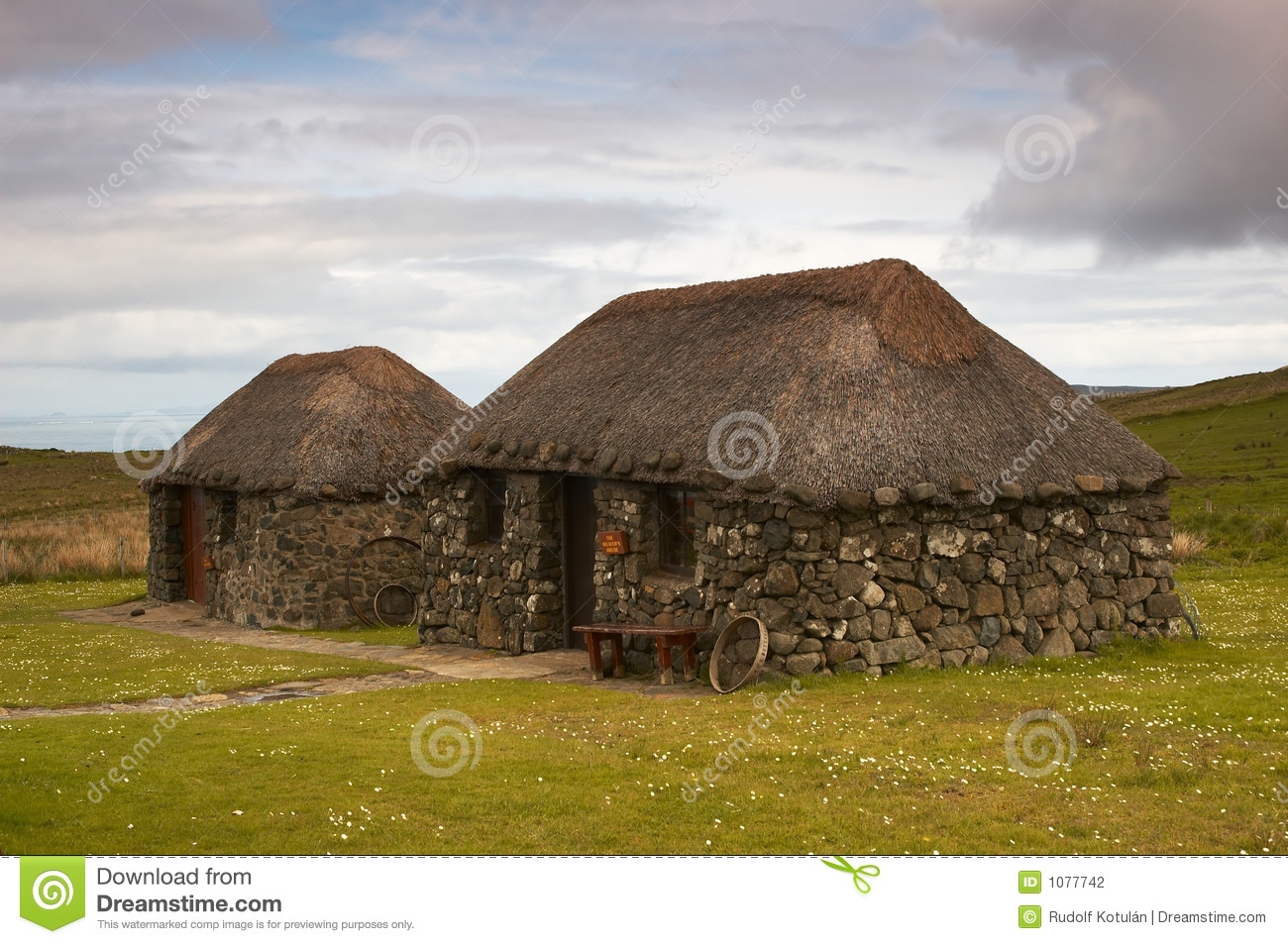 Scottish Cottage Stock Photography Image 1077742
