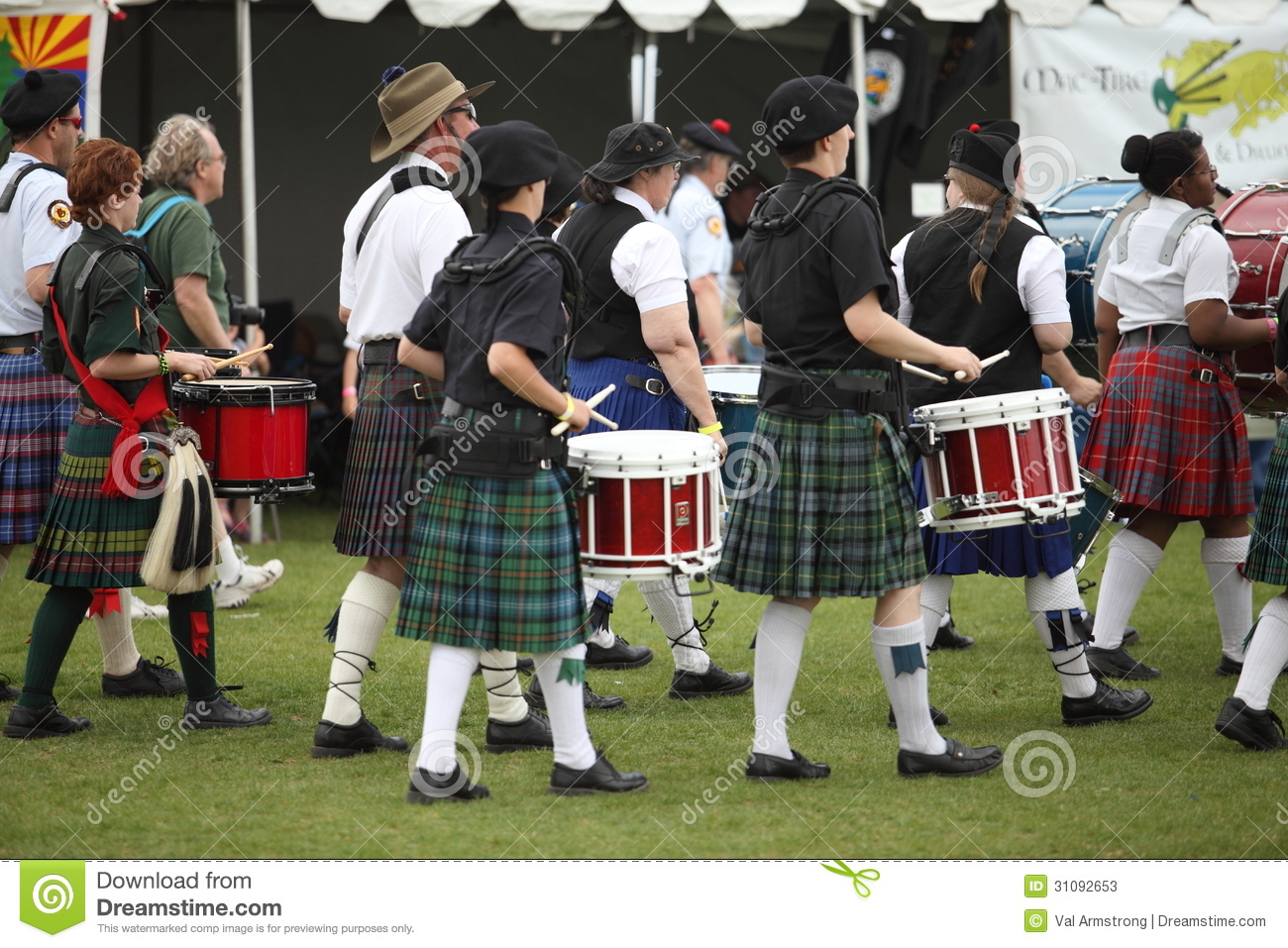 Scottish Drummers editorial stock photo  Image of celtic