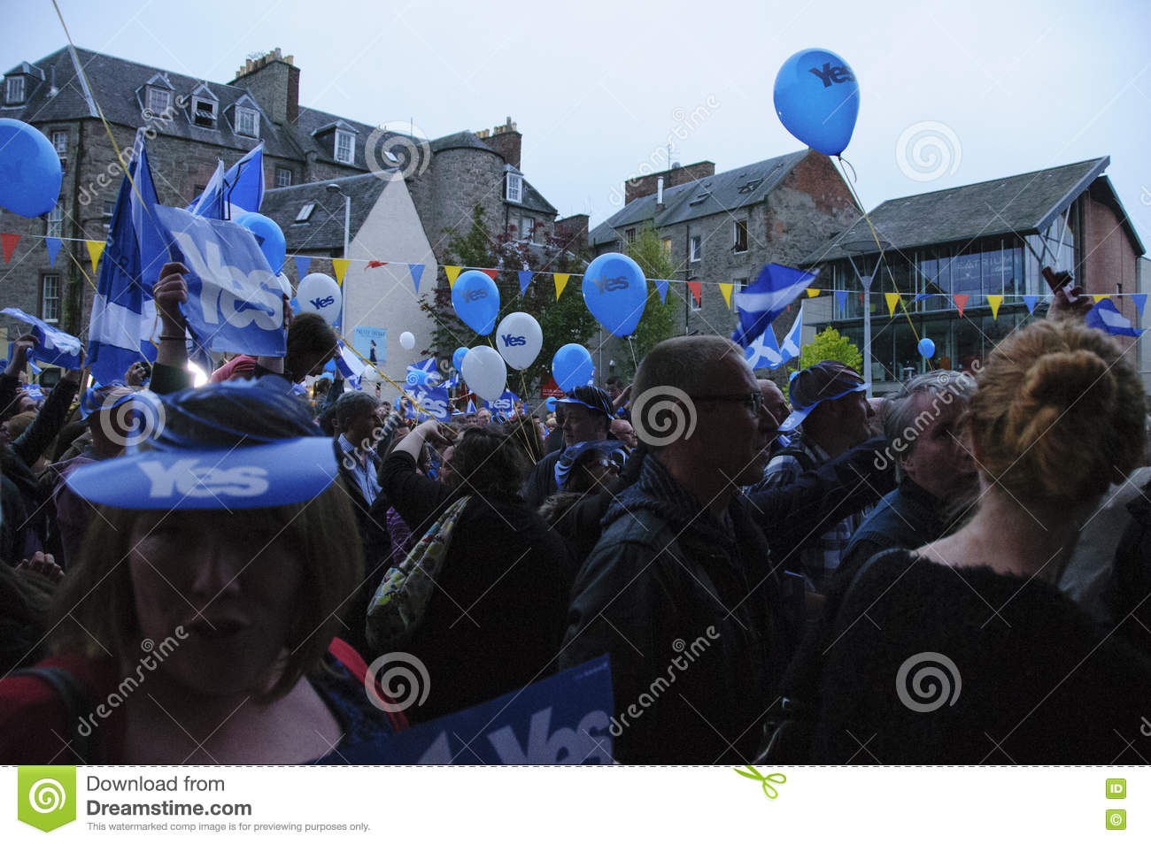 2014 Scottish Independence Referendum Editorial Photography