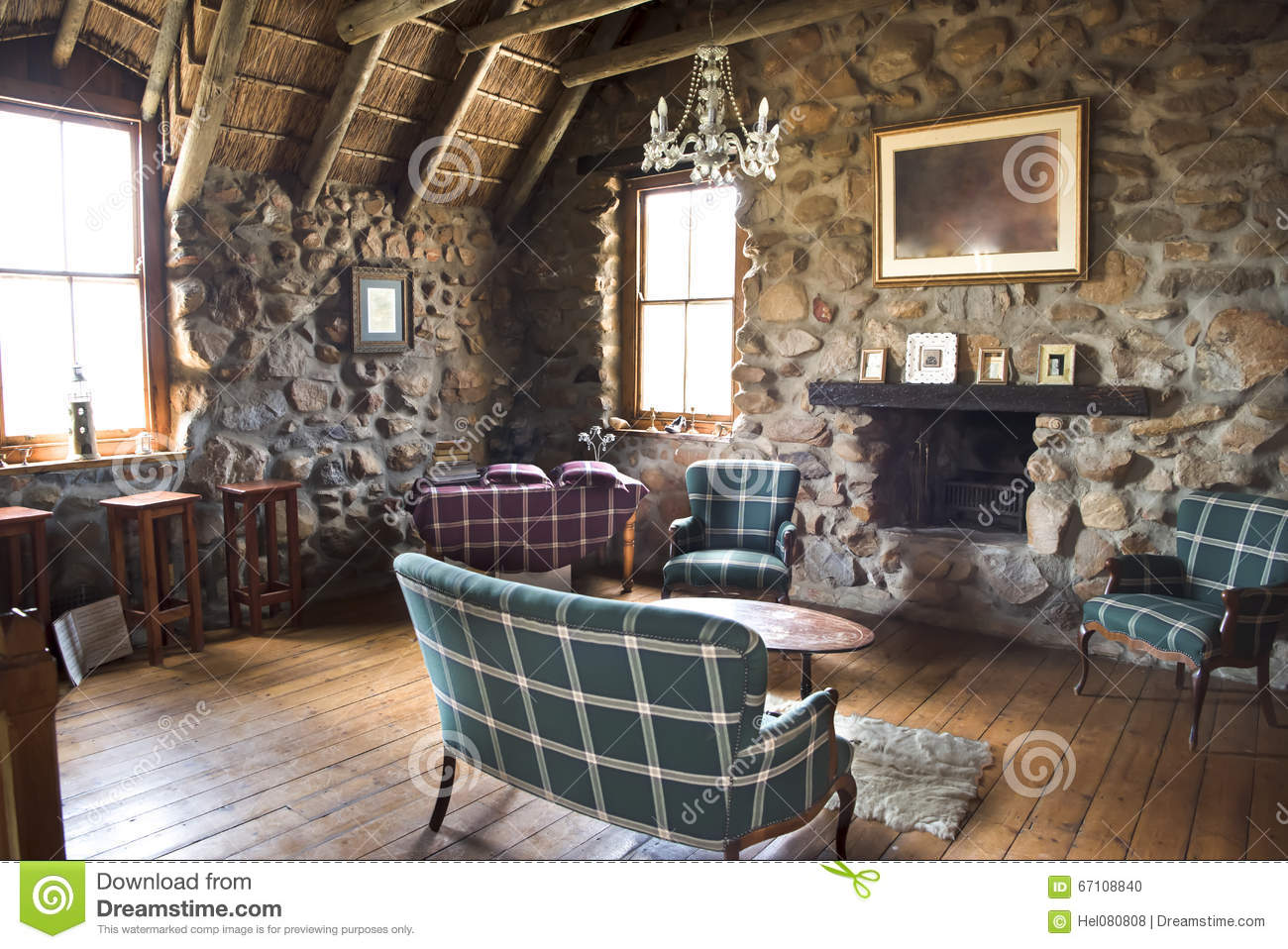 Scottish Interior Stock Photo Image Of Drystone Ancient