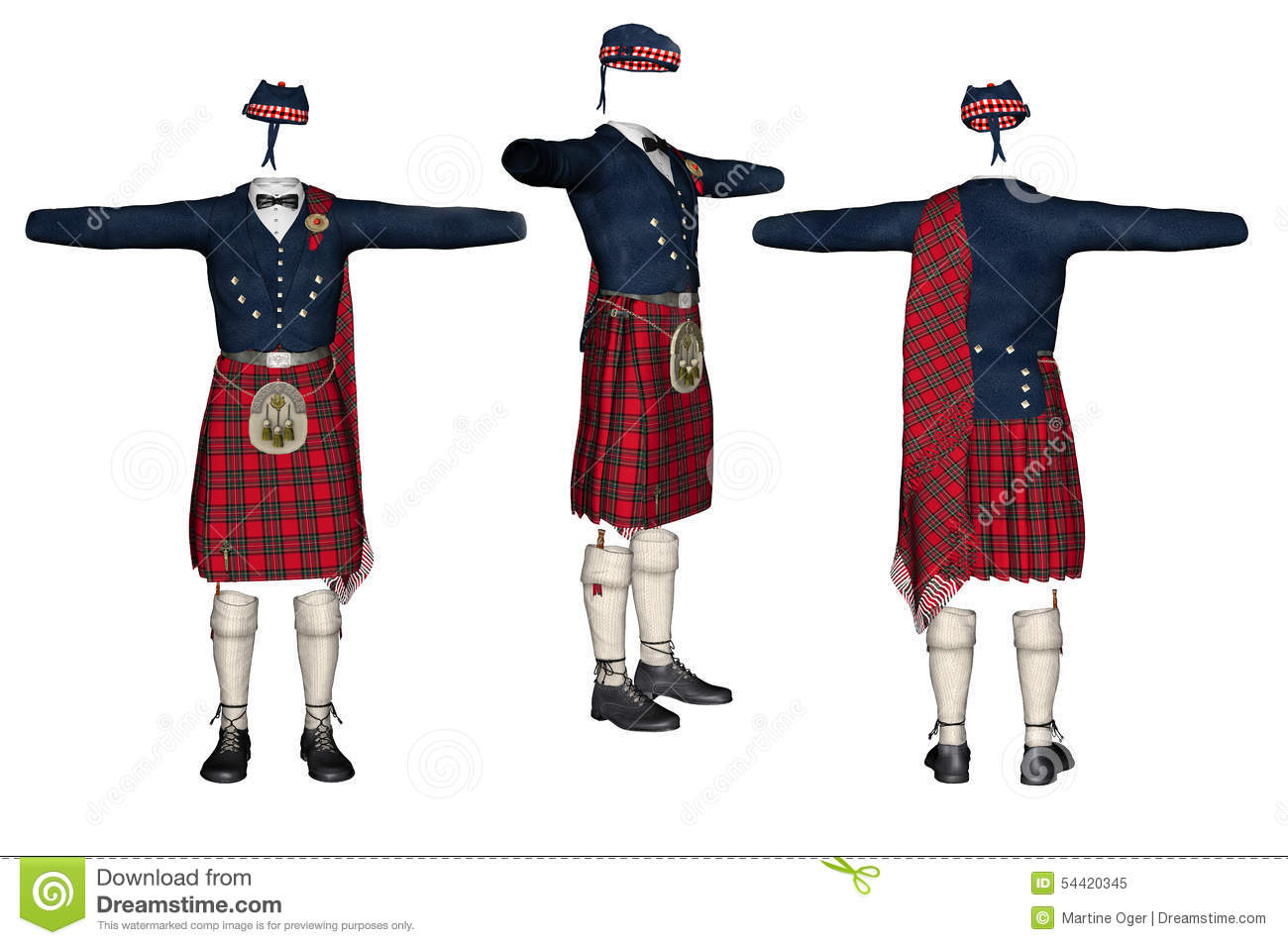 Scottish kilt.