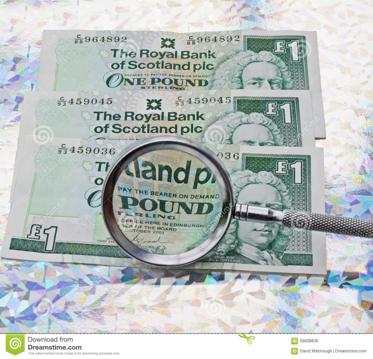 scottish pound stock photo image of rate politics magnifier