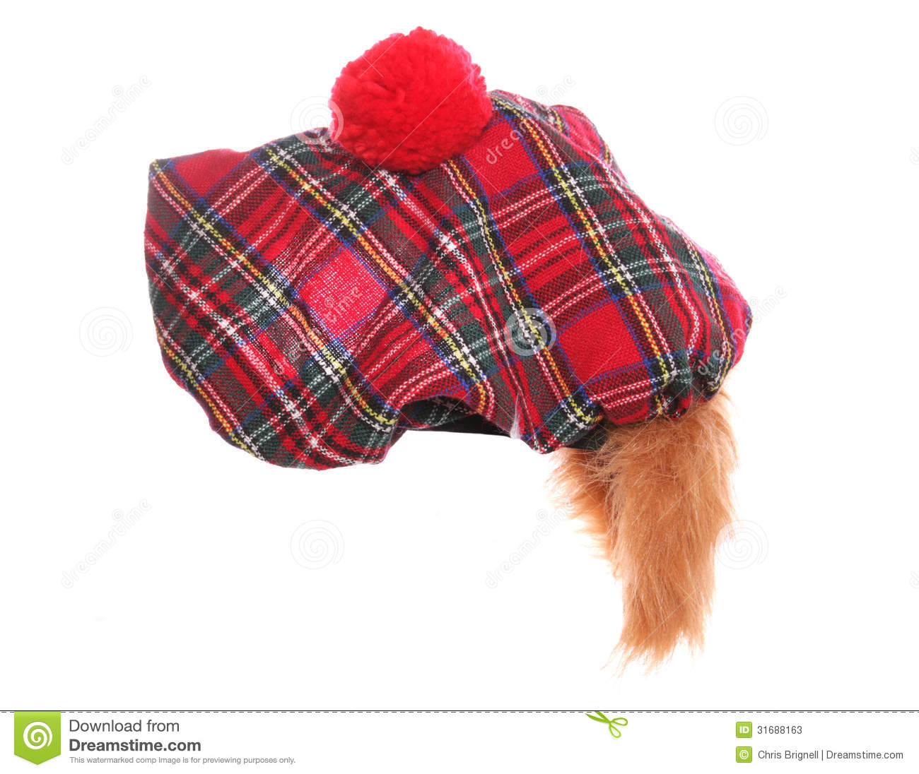 Scottish Tartan Hat Stock Photos - Image: 31688163