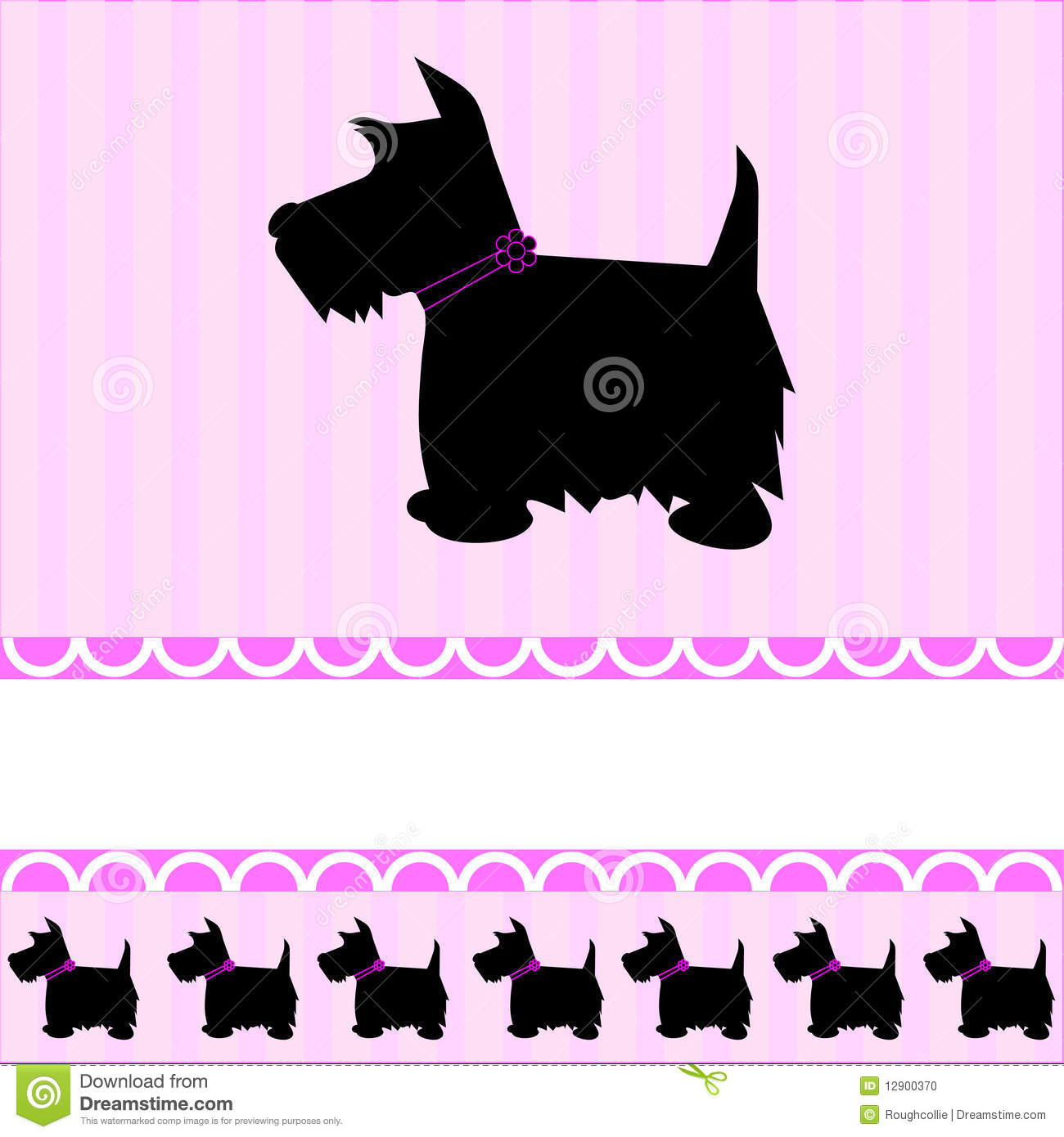 Scottish terrier dog card stock vector illustration of puppy 12900370 scottish terrier dog card kristyandbryce Images