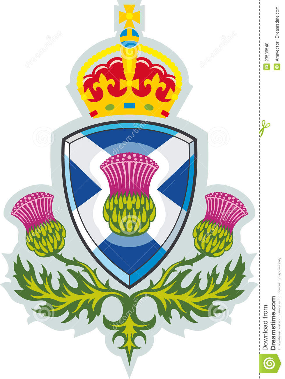Scottish thistle .Symbol of Scotland Vector.