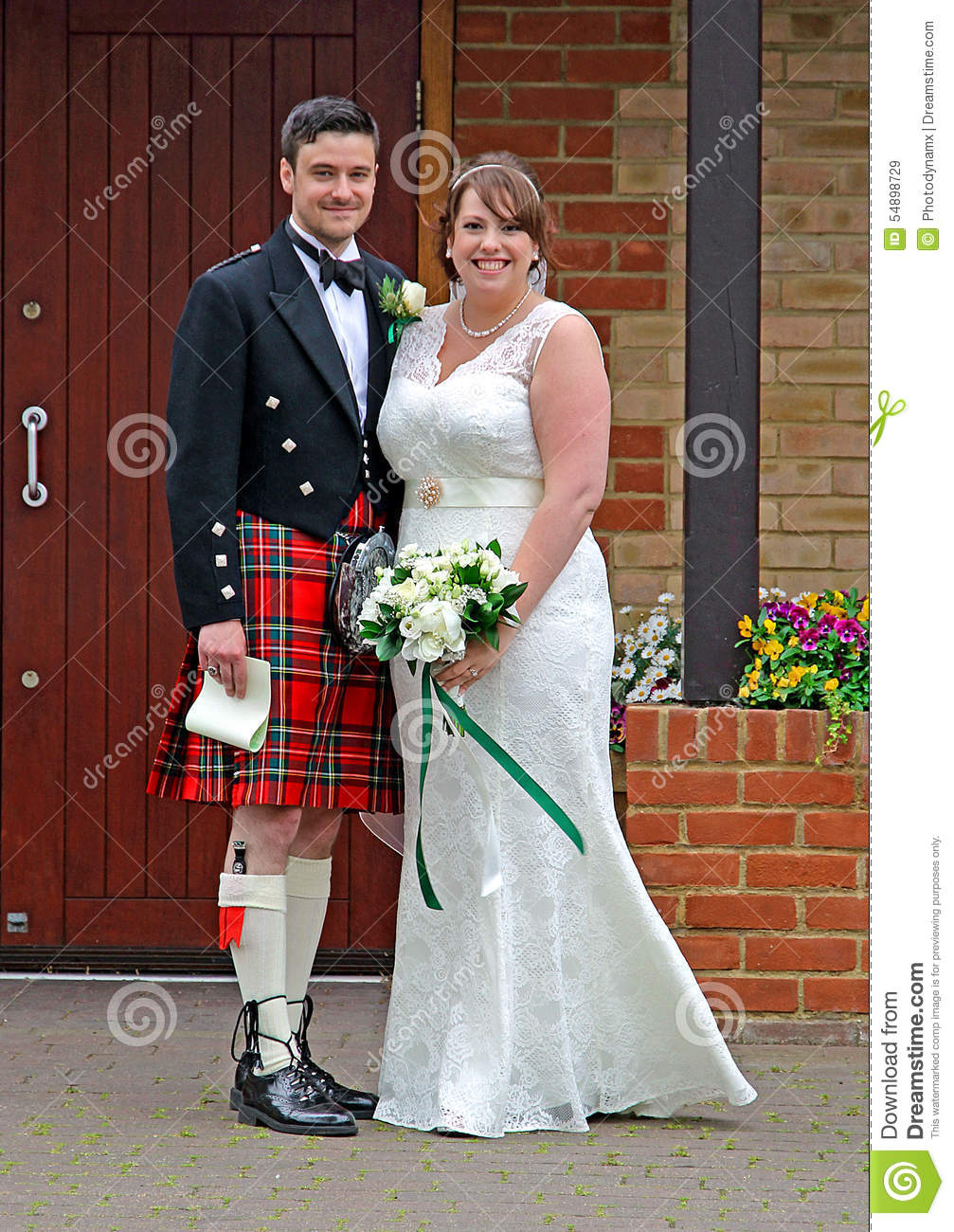 Scottish Wedding Editorial Stock Image. Image Of Marry
