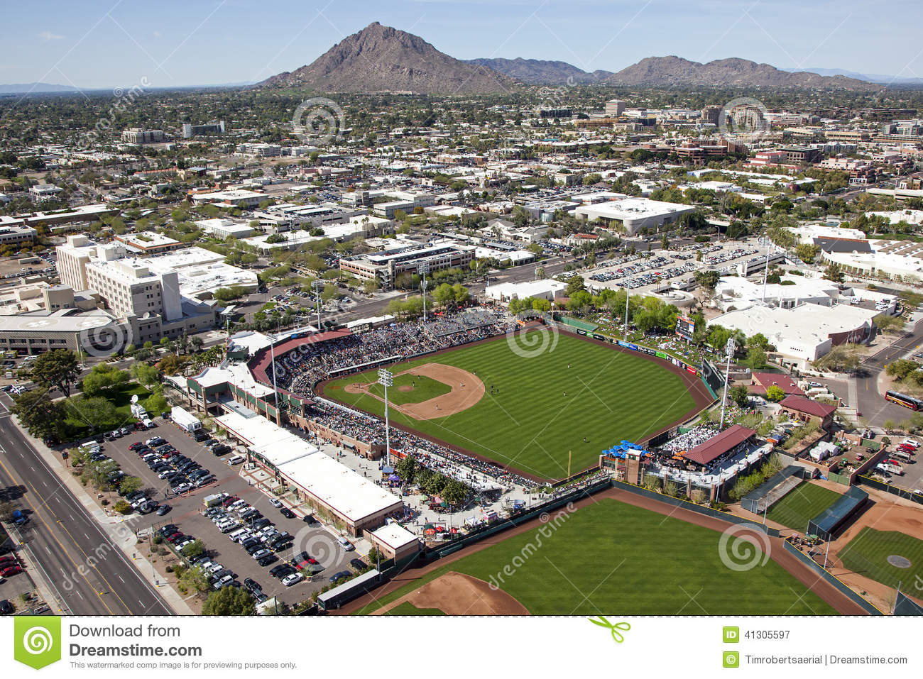 Spring Training game at Scottsdale Stadium, Scottsdale, Arizona, March ...