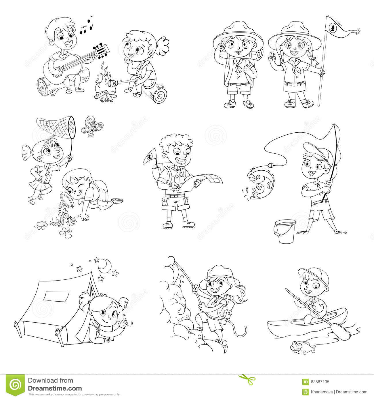 Scout Stock Illustrations 7083 Scout Stock Illustrations Vectors