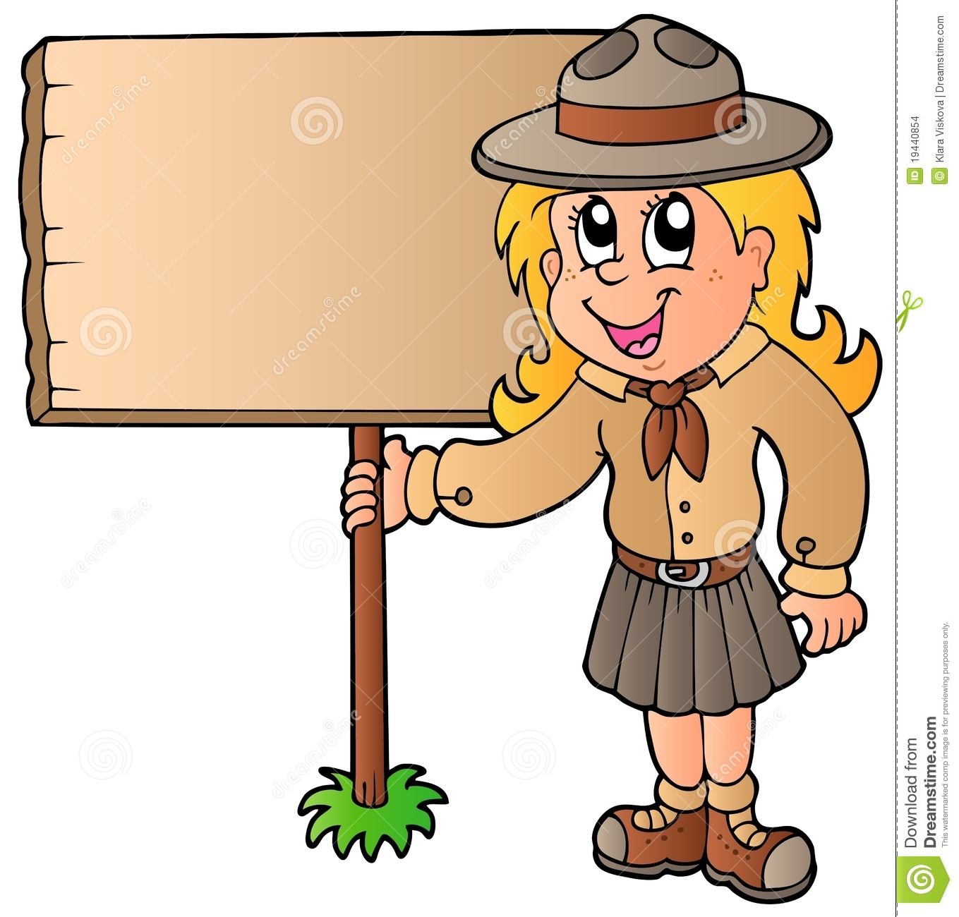 scout girl holding wooden board stock images image 19440854 girl scout cookie clip art free junior girl scout clip art free