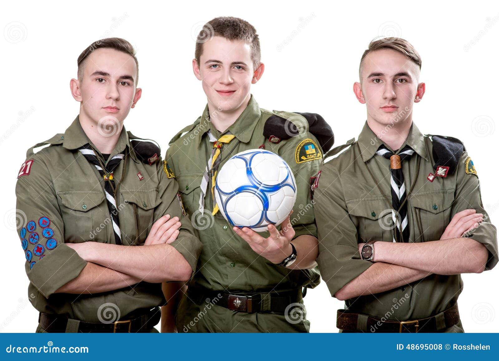 Scouts In Studio Stock Photo Image 48695008
