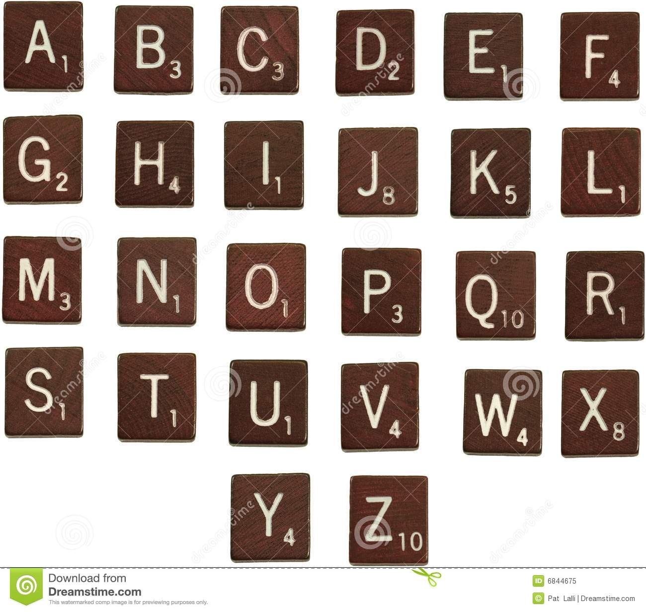 Scrabble Letters Alphabet Stock Image Image Of Isolated