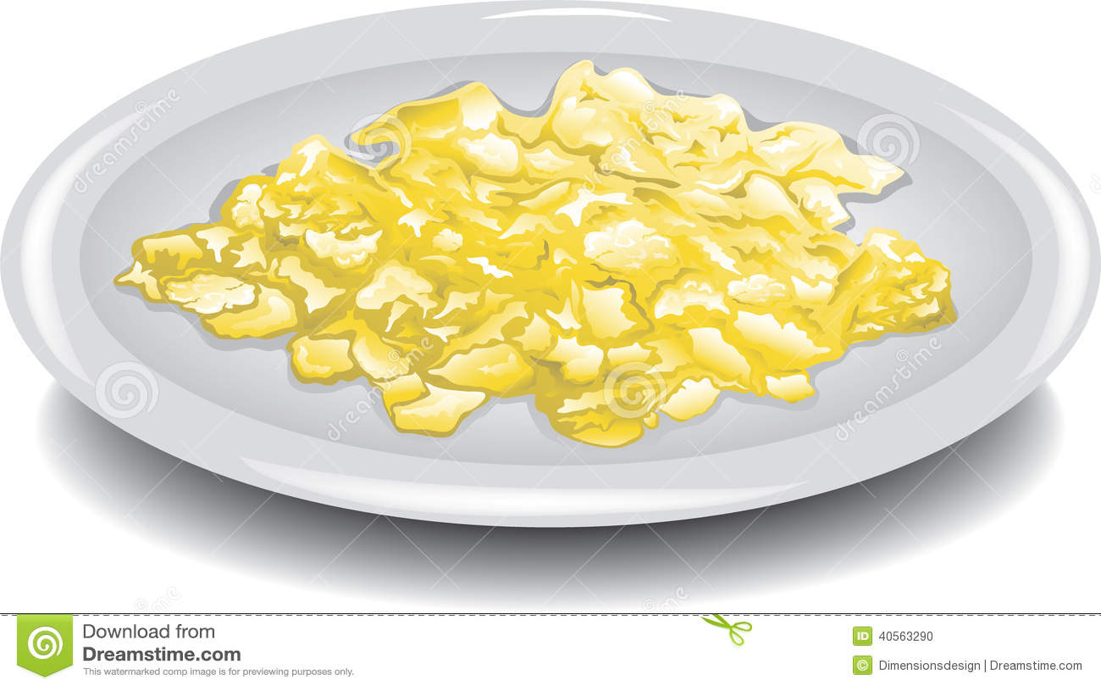 Scrambled Eggs Stock Vector - Image: 40563290
