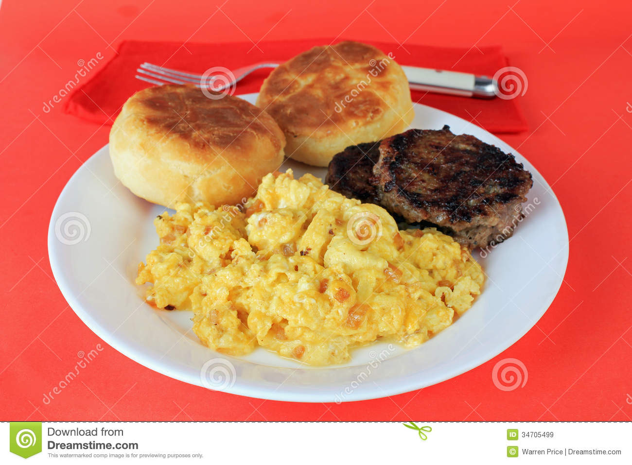 Scrambled Eggs And Sausage Royalty Free Stock Images ...