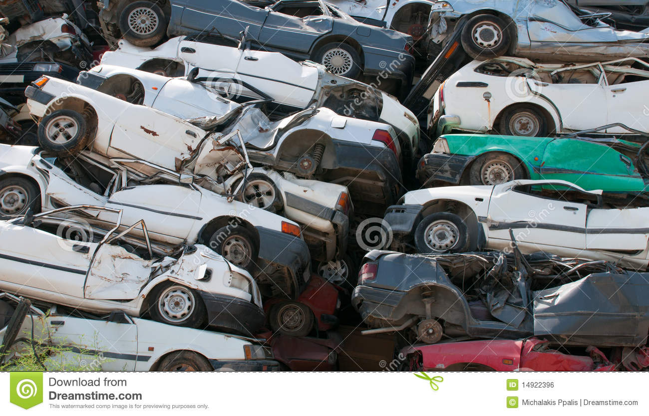 Scrap cars for recycling stock photo. Image of corrosion - 14922396