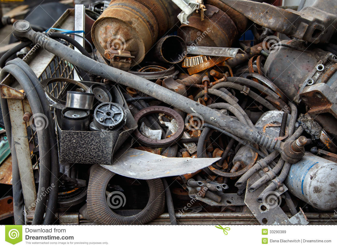 scrap metal old car parts stock image image of junkyard
