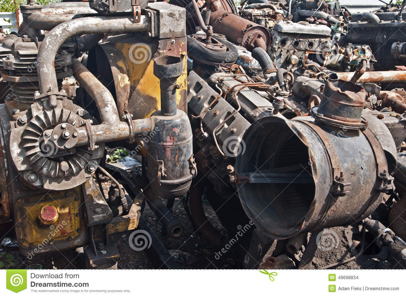 Scrap With Old Cars Parts On Scrap-heap Stock Photo - Image of ...