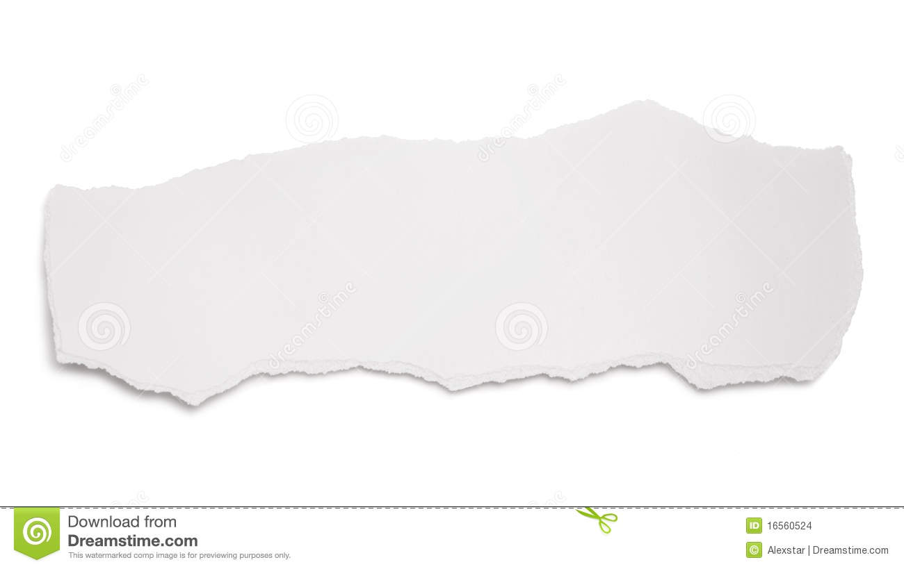 scrap of paper isolated on white mr no pr no 5 5372 50