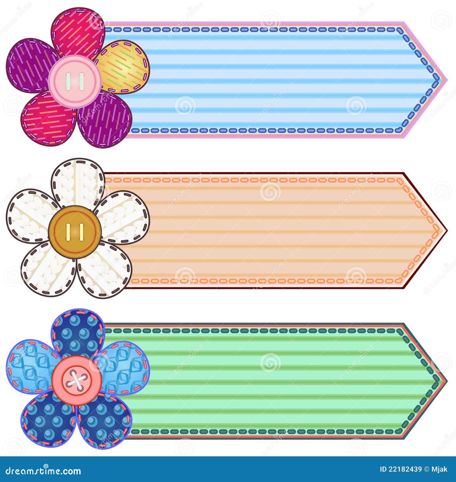 Scrapbook Banners Stock Vector Illustration Of Advertisement 22182439