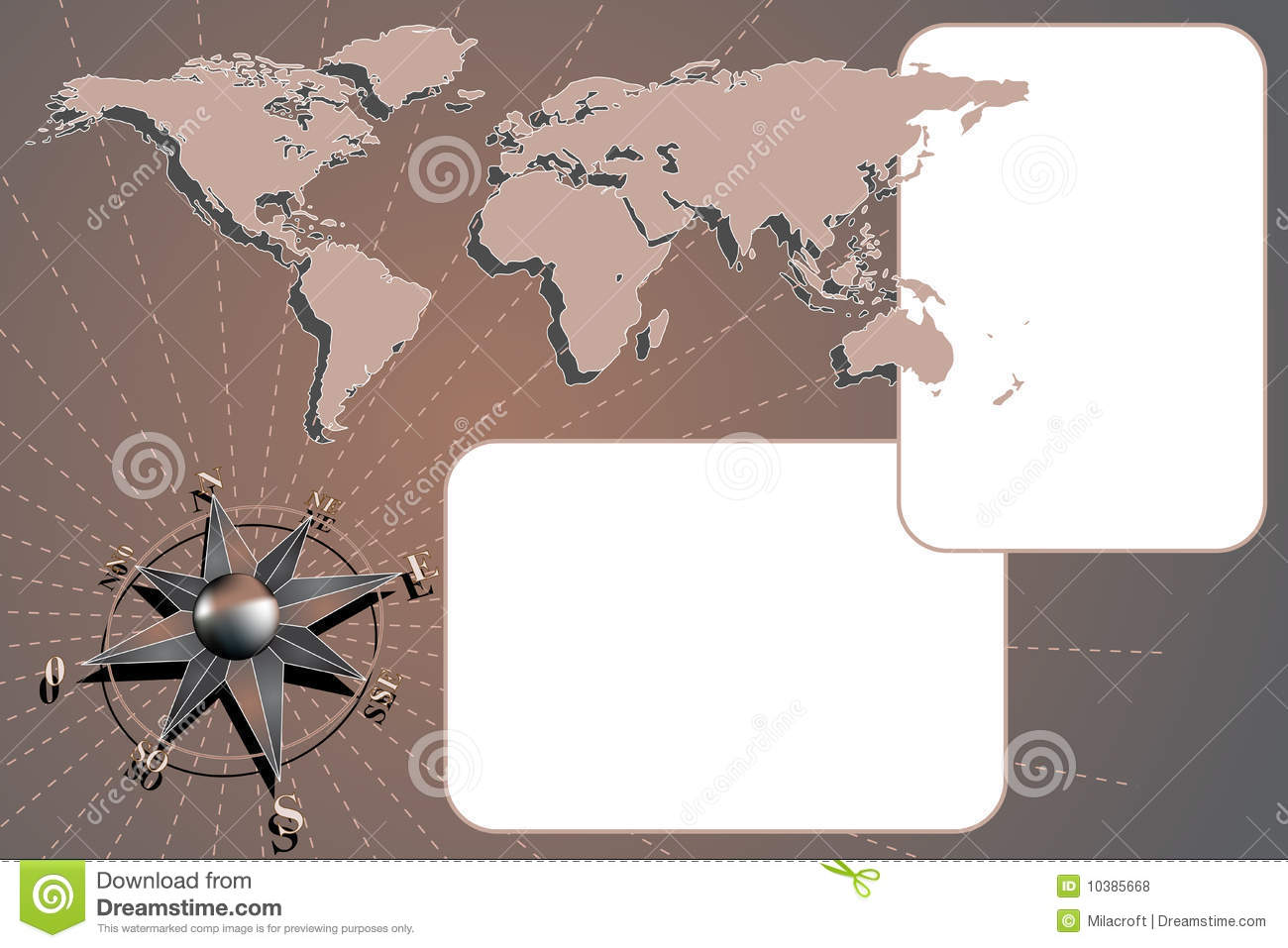 Scrapbook with compass rose and map world stock vector scrapbook with compass rose and map world gumiabroncs Images